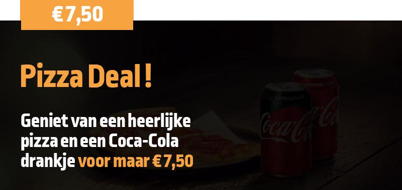 Korting Misterkebab: Pizza Deal! Een heerlijke Pizza en Coca Cola voor maar 7,50 Euro